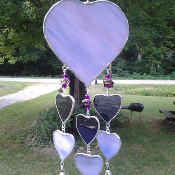 """13"""" stained glass mobile/chimes"""