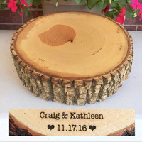 Rustic Wood Cake Stand, Wedding Cake Stand, Wood Slab, Wood Slice Cake Stand, Cheese Cutting Board, Country Wedding, Barn Wedding