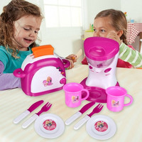 Kitchen Pretend Play Toys Mixer Toaster Tools Electric Light And Sound Baby Girls Early Learning Toys