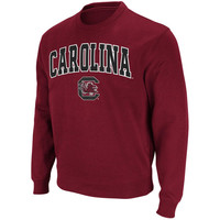 South Carolina Gamecocks Stadium Athletic Arch & Logo Crew Pullover Sweatshirt - Garnet