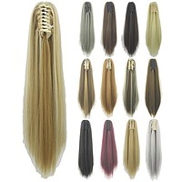 Soowee Straight Long Clip In Hair Extensions Synthetic Ponytails