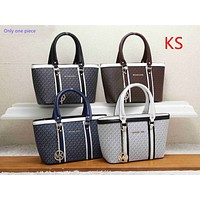 """Michael kors""  casual wild large capacity solid color fashion shopping bag handbag"