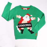 Women's Censored Santa Sweater