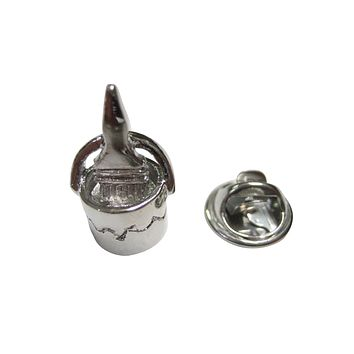 Silver Toned Paint in Paint Bucket Painter Lapel Pin