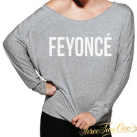 Feyonce Flowy Off the Shoulder Long Sleeve Shirt