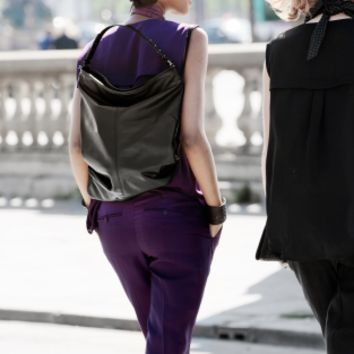 Leather rucksack   Black   & Other Stories