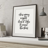 ONE DIRECTION ART Typography Art Print Song Lyrics One Direction Infinity Lyrics Minimalist Poster One direction quote Quote Print Printable