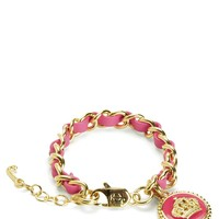 Status Coin Leather & Chain Bracelet by Juicy Couture