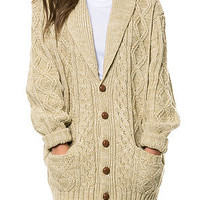 The Thane Sweater in Beige