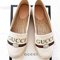 GUCCI New color embroidered fisherman's shoes