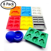 8 Pieces/set Silicone Star Wars Mold Ice Cube Trays Chocolate Molds Frozen Kitchen Accessories