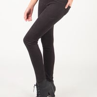 Simple and Stretchy Jeggings - Black