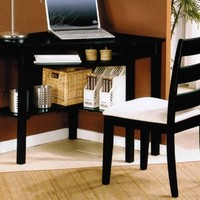 ACME 00518 Naco 2-Piece Pack Corner Desk and Chair, Black Finish