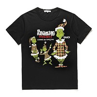 Men's CDG PLAY COMME DES GARCONS Play Fashion Re-tartan Re-energy Holiday Black T-Shirt DSM limited edition