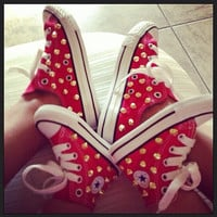 Mommy & Me or Daddy and Me Spike Studded Converse