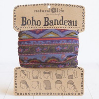 Natural Life Boho Bandeau Green