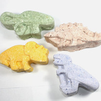 4 Dinosaur Bath Bombs - kids, children, t-rex, brontosaurus, stegosaurus, triceratops, bath fizzy, bath fizzies, valentines day, party favor