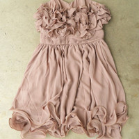 Gathered Ruffles Party Dress [3123] - $36.00 : Vintage Inspired Clothing & Affordable Summer Dresses, deloom   Modern. Vintage. Crafted.