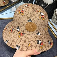 GUCCI & Disney New fashion more letter mouse print cap fisherman hat