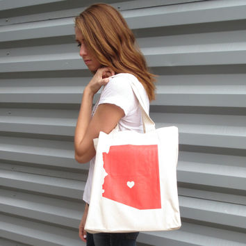 Recycled Cotton Canvas Tote - Arizona State