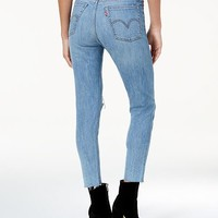 Levi's Ripped Skinny Wedgie Jeans Juniors - Jeans - Macy's