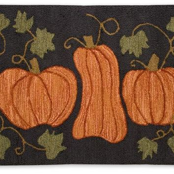Pumpkin Patch 2' X 3' Hooked Wool Rug