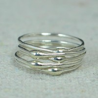 Unique Silver Stacking Rings