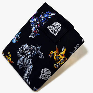 Tablet Case, iPad Cover, Transformers, Autobots, Bumble bee, Kindle Fire Sleeve, 7, 8, 9, 10 inch Tablet Cover, Sleeve,FOAM Padding, Gift