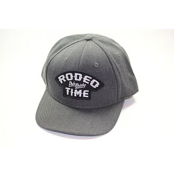 Dale Brisby's Rodeo Time Patch Charcoal Denim Precurved