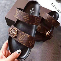 Louis Vuitton Women Fashion Flats Sandals Slipper Shoes