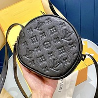 Louis Vuitton LV Fashionable Women Shopping Bag Leather Circular Shoulder Bag Crossbody Satchel