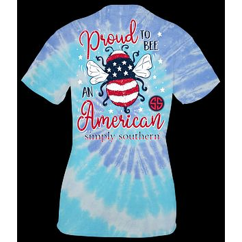 Proud to BEE an American - Tie Dye - SS - Adult T-Shirt