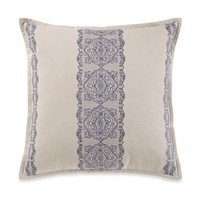 Wamsutta® Tapestry Embroidered Square Throw Pillow in Beige