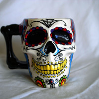 Sugar Skull Ceramic Coffee Mug