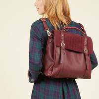 Stop, Rock, and Roll Convertible Bag in Burgundy | Mod Retro Vintage Bags | ModCloth.com