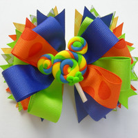 Rainbow Lollipop Mickey Mouse Boutique Bow