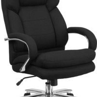 Series 24/7 Intensive Use, Multi-Shift, Big & Tall 500 lb. Capacity Black Fabric Executive Swivel Chair with Loop Arms