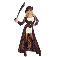 6pc Decadent Pirate Diva Costume Set