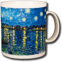 Vincent Van Gogh - Starry Night Over The Rhone - 14oz Coffee Mug