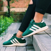 adidas iniki runner boost green fashion trending running sports shoes sneakers