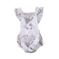 Baby Deer Ruffle Playsuit