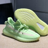 "Adidas Yeezy Boost 350 V2 boost ""Luminous fluorescent green"" Sneakers Running Sport Shoes Static Refective Shoes"
