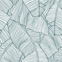The Palms in White Removable Wallpaper Decal