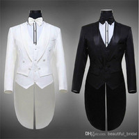 Hot Sale Tailcoat Men's Suit Notch Lapel Men's Western Jackets Cheap Men's Formal Tuxedo (Jacket+Pants+Tie+Vest) 16080305