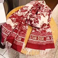 DIOR Autumn Winter Hot Sale Women Tassel Cashmere Cape Scarf Scarves Shawl Accessories