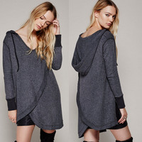 Hoodies Winter Irregular Tops Hats [9307397508]