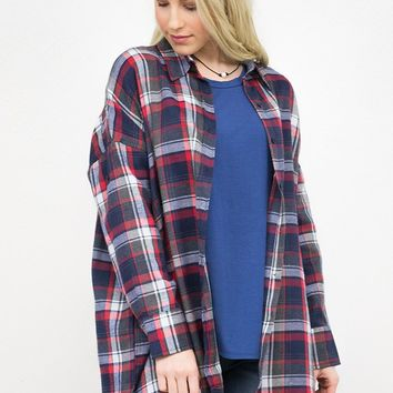 Remedy Flannel High- Low Tunic