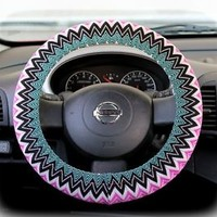 Steering wheel cover bow wheel car accessories lilly girls interior heated aztec