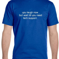 Tech Support T-Shirt , Sheldon Cooper The Big Bang Theory