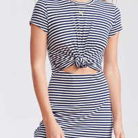 Silence + Noise Knotted T-Shirt Dress   Urban Outfitters